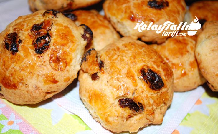 uzumlu cevizli kurabiye
