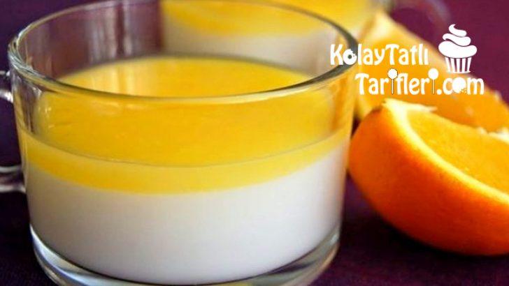Portakal Pelteli Muhallebi Tarifi