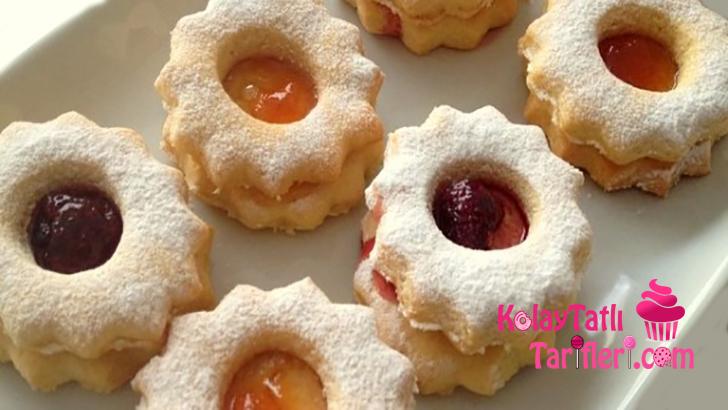 marmelatli recelli kurabiye