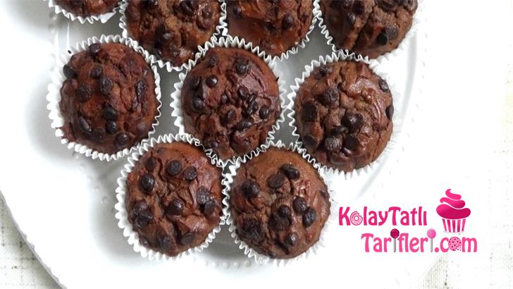 damla cikolatalı findikli muffin