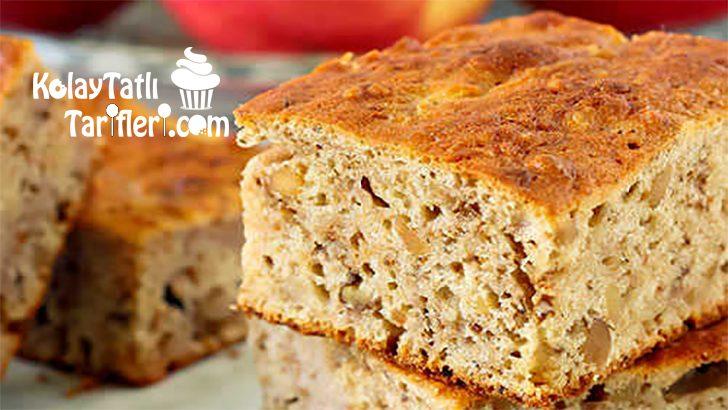 Elmalı Tarçınlı Cevizli Kek