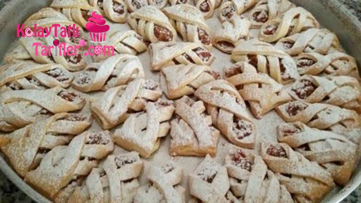 kafes seklinde elmali kurabiye