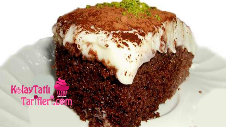 muhallebili islak kek