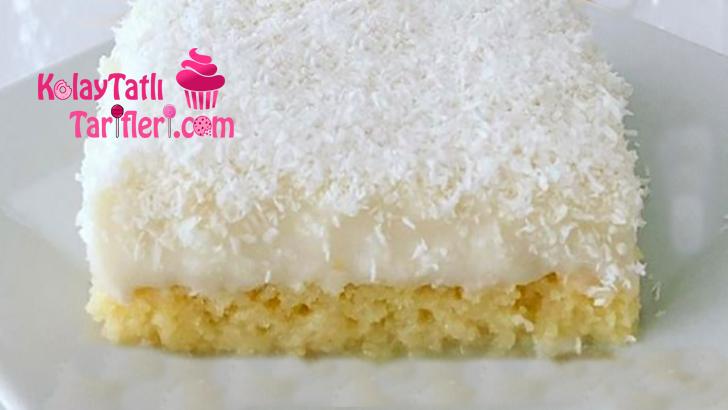 sut serbetli muhallebili kek