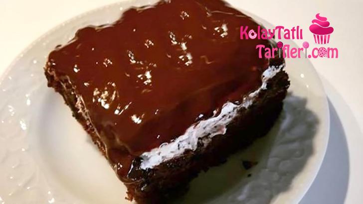 krem santili cikolata soslu islak kek