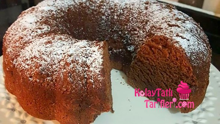 Çaylı Nişastalı Kek