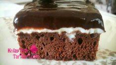 Çikolata Soslu Pudingli Kek