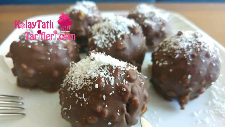 Krem Şanti Dolgulu Çikolatalı Kek Topları