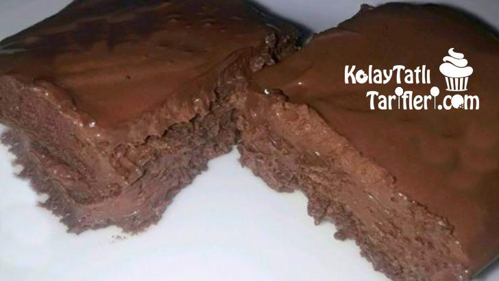 Çikolatalı Bisküvili Köpük Pasta