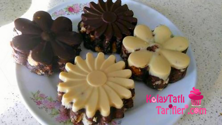 cikolatali porsiyonluk mozaik pasta
