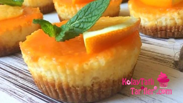 porsiyonluk portakalli cheesecake