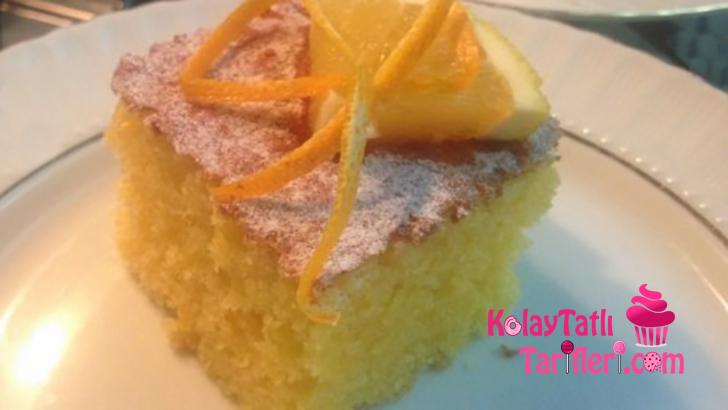 portakalli tepsi keki