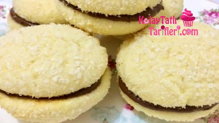 hindistan cevizli sandvic kurabiye