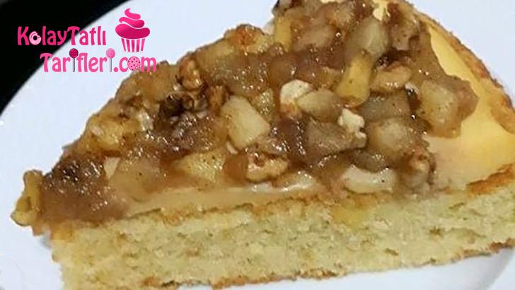 elmali muhallebili tart kek
