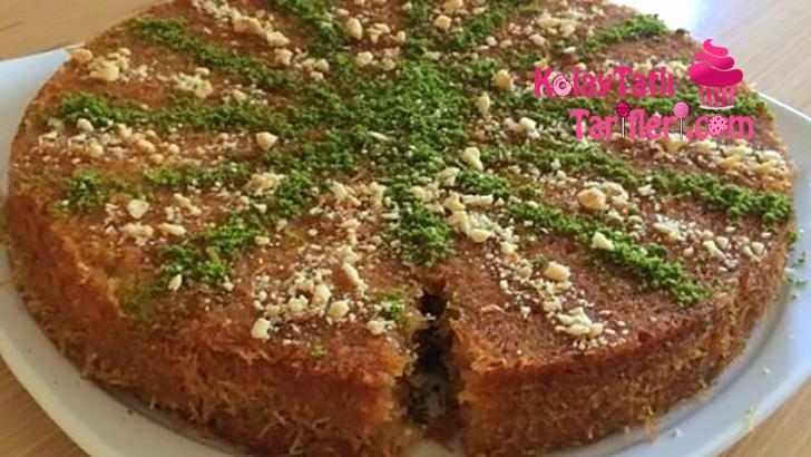 kadayifli serbetli kek