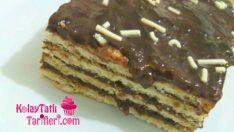 Ev Yapımı Pudingle Bisküvili Pasta