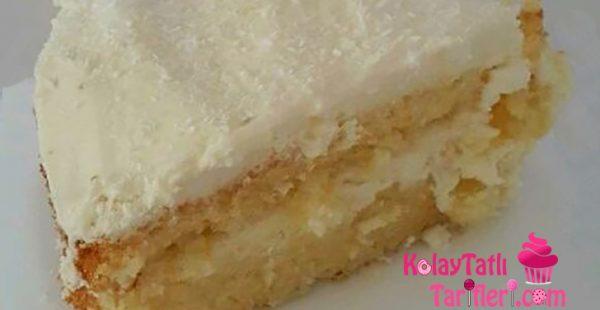 Ananaslı Hindistan Cevizli Pasta