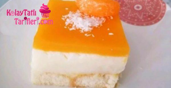 Mandalinalı Kedi Dili Pastası