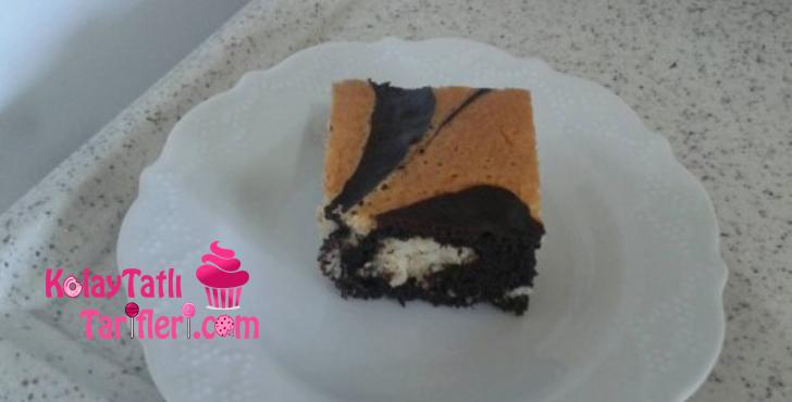 damla cikolatali mozaik kek
