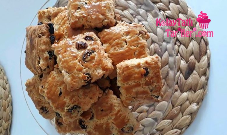 pastane usulu uzumlu kurabiye